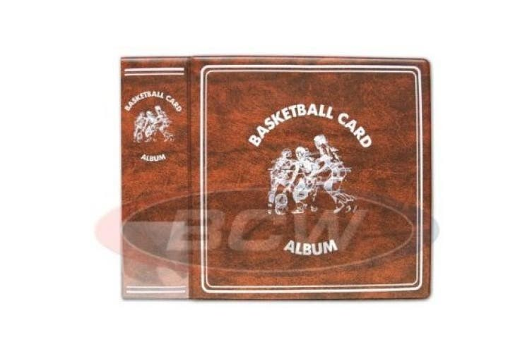 Basketball Trading Card Collectors Album with Page sleeves, 5.1cm Spine