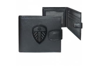 Leeds United Leather Wallet Embossed Crest