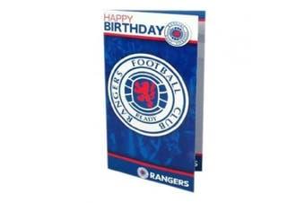 Rangers FC. Birthday Card and Badge