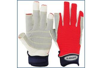 Azure sailing Gloves STOPWATCH FRIENDLY KEVLAR STITCHING-XLarge F/F-RED
