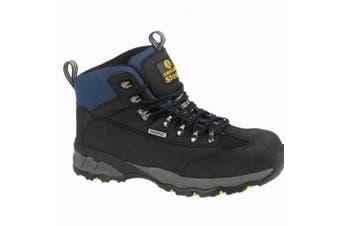 (15 UK, Black) - Amblers Steel FS161 Waterproof Boot / Mens Boots / Safety Footwear