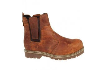 (4 UK, Brown) - Amblers Steel FS165 Safety Boot / Womens Ladies Boots / Dealers Safety