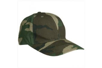 Military Style Baseball Cap Army Combat Hat Ripstop Fishing Hiking Woodland Camo