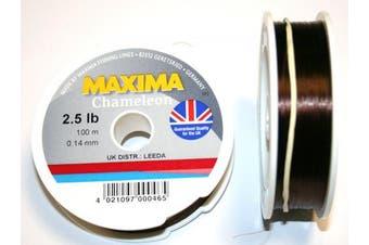 (1.1kg) - Maxima Chameleon Fishing Line 100 Metre Spool