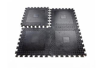 Rubber Interlocking Gym Garage Mats Heavy Duty x four mats easimat branded(290)