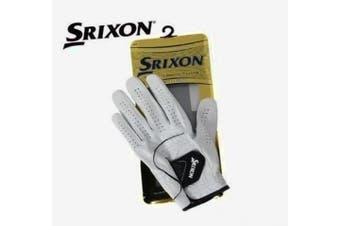 (Medium/Large, White) - Srixon Men's 2009 Leather Golf Glove (Left Hand)