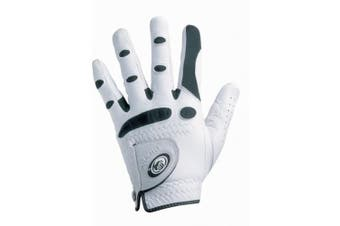 (Medium/Large, Worn On Left Hand) - Bionic Gloves –Men's StableGrip Golf Glove W/ Patented Natural Fit Technology Made from Long Lasting, Durable Genuine Cabretta Leather.