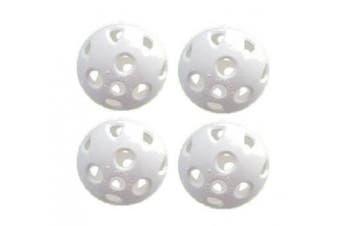 Brand Fusion - 24 X White, Plastic Practise Whiffle Air Flow Stream Golf Balls