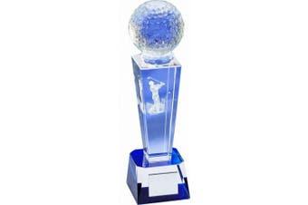 Longridge Crystal Golf Ball Crystal Trophy