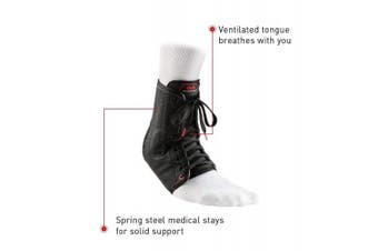 (Large, Black) - McDavid Ankle Brace, Ankle Support, Lace up Ankle Brace, Ankle Support Brace for Ankle Sprains, Volleyball, Basketball, for Men & Women, Sold as Single Unit (1)