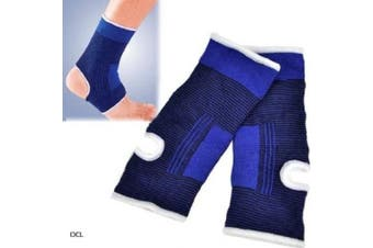 Aokeshen New 2X Stretch Foot Ankle muscle Joint Protection Elastic NEOPRENE Brace Guard Support Sports Sock Running Pad Arthritis Guard Pair Gym Wrap Blue For Bruise Injury Sleeve Bandage Sprains
