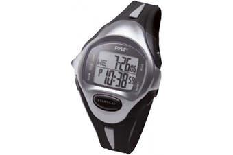 (Black) - Multifunction Sports Training Wrist Watch - Smart Classic Sport Fit Running Digital Fitness Gear Tracker w/ Timer, Alarm, Target Time, Marathon Mode, LED, For Men and Women - Pyle PSWLMR30BK (Black)