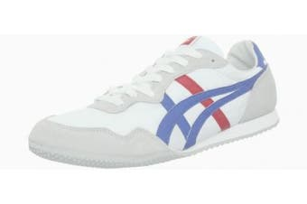 (4 UK, White/Blue) - Asics - Mens Onitsuka Tiger Serrano Shoes In White/Blue