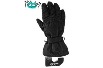 (Large Size 7 Age 10-12) - Kids Ski Gloves - Water Resistant With Warm Tricot Lining. Age 4-6