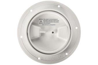 (white, 10cm ) - Beckson 10cm Smooth Centre Screw Out Deck Plate
