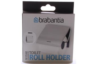(White) - Brabantia Toilet Roll Holder, White