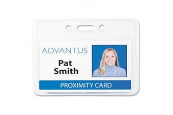 (8.6cm  x 6cm ) - ADVANTUS Proximity Badge Holder, Vertical, 2-3/8 x 10cm - 1cm Insert Size, Clear, 50 per Pack (75451)