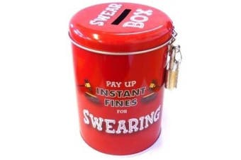 Boxer Gifts Instant Fines Pay Up Tin, Swearing