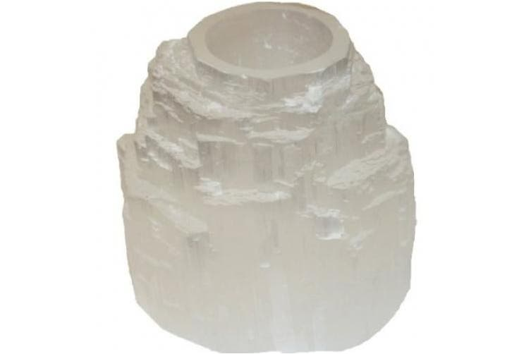 Selenite Mountain Tealight Candle Holder