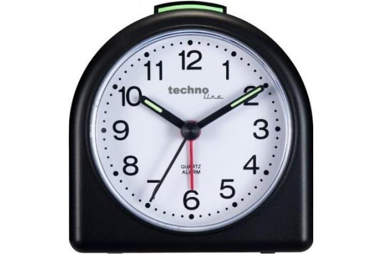 Technoline Geneva SD Small Arch Quartz Alarm Clock (Black)