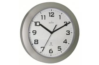 (Silver) - Acctim 74367 Peron Radio Controlled Wall Clock, Silver