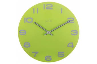 Acctim 27005 Mika 30 cm Glass Wall Clock, Lime Green