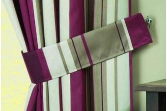 (claret, Pair of Tiebacks) - Curtina - Whitworth - Pair of Curtain Tiebacks - Tiebacks, Claret
