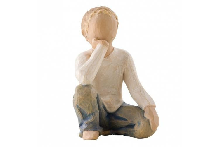 (Lighter Skin and Hair Color) - Willow Tree Inquisitive Child Figurine