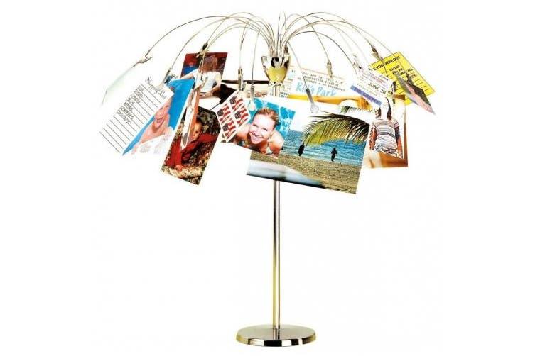 Umbra Fotofalls Desktop Photo/Memo Display with 18 Tree Clips- Nickel
