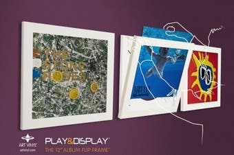 Art Vinyl Play & Display Record Frame Triplepack (White)