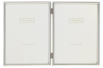 Addison Ross, Essentials Photo Frame, Silver Plate Double, 10cm x 15cm