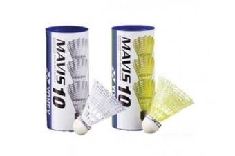 (F/S, White) - YONEX Mavis 10 Badminton Shuttlecocks (Dozen)