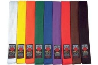 (Blue, 240cm) - New Cimac Martial Arts Belts Karate Judo Taekwondo Belts Multi Colour 240-320cm