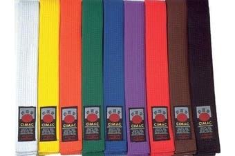 (White, 240cm) - New Cimac Martial Arts Belts Karate Judo Taekwondo Belts Multi Colour 240-320cm