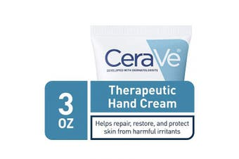 CeraVe Therapeutic Hand Cream for Dry Cracked Hands | 90ml | With Hyaluronic Acid and Niacinamide | Packaging May Vary