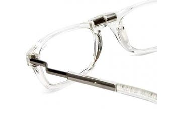 (Clear) - Clic Reading Glasses - Clear Magnetic Eyewear1.25