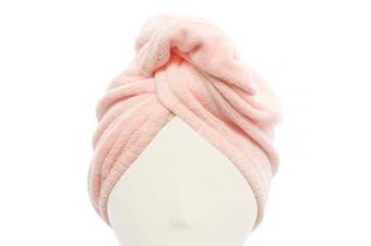 (Pink) - Diva Darling, Microfiber Hair Turban, Pink