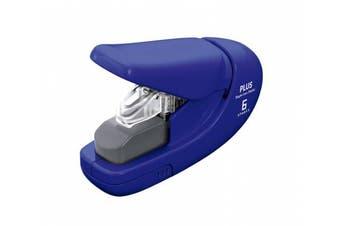 (Blue) - Plus PAPER CLINCH Compact NAVY BLUE Heavy Duty, Light, Staple Free Stapler (31252)