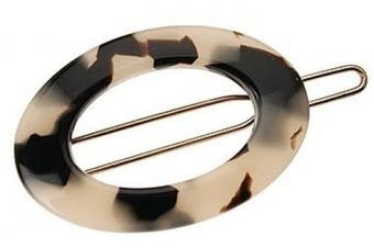 (Ivory Tokyo) - France Luxe New Cutout Oval Tige Boule Barrette - Ivory Tokyo