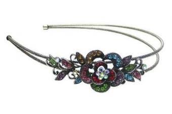 (multi colours) - Crystal Flower Headband U86121-0119multi