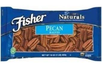 Fisher Pecan Halves, 470ml 1 LB Bag