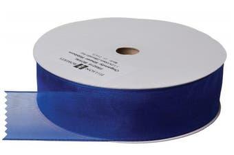 (Royal Blue) - Jillson Roberts Bulk 3.8cm Sheer Ribbon Available in 16 Colours, Royal Blue, 100 Yard Spool (BFR3216)