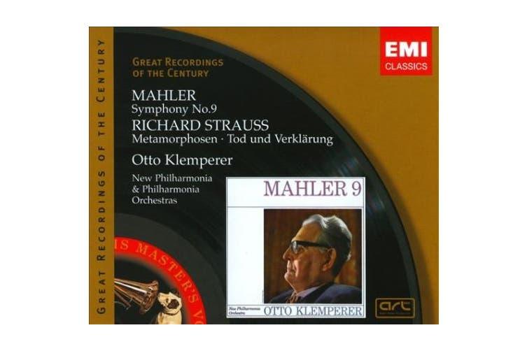 "Mahler: Symphony No. 9; Richard Strauss: Metamorphosen; Tod und Verkl""rung"