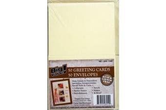 Darice Heavyweight A7 Cards/Envelopes (13cm x 18cm ) 50/Pkg