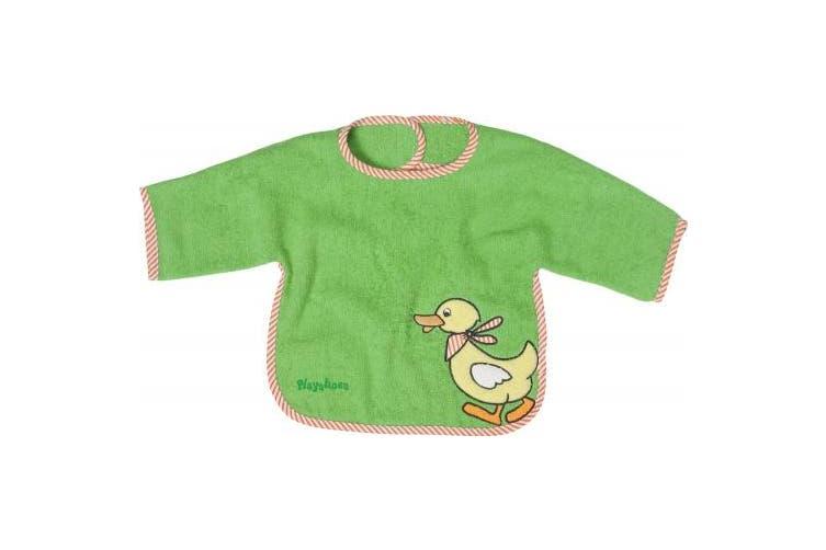 Playshoes 39 x 30cm Long Sleeve Baby Bib Duck