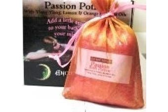 Dead Sea Salts Passion Bath Potion with Ylang Ylang, Lemon & Orange. Add a little aromatic magic to your bath and enchant your mind & body with these heavenly fragrances 200g