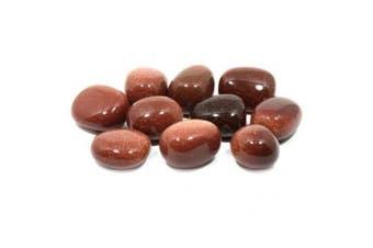 (1) - Red Goldstone Tumble Stone (20-25mm) Single Stone