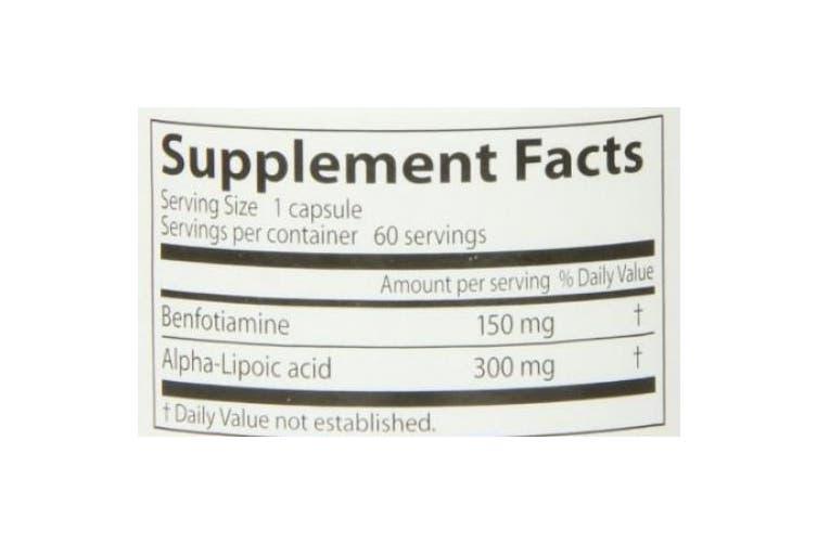 Doctor's Best, Best Benfotiamine 150 + Alpha-Lipoic Acid 300, 60 Veggie Caps