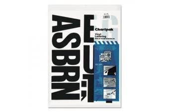 (4 Inches High, Black) - Chartpak Self-Adhesive Vinyl Capital Letters, 10cm High, Black, 58 per Pack (01175)