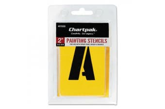 Chartpak Letter and Number Painting Stencils, A-Z and 0-9, 5.1cm H, 35 per Pack (01555)